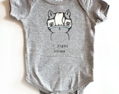 I Fight Crime Onesie - Heather Grey