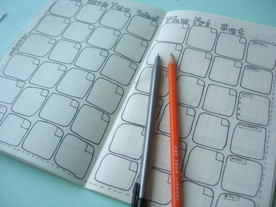2016 Calendar Datebook (blank, fill in as you go)