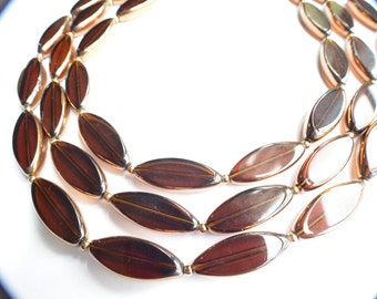 The Sophie- Brown and Gold Chunky Necklace