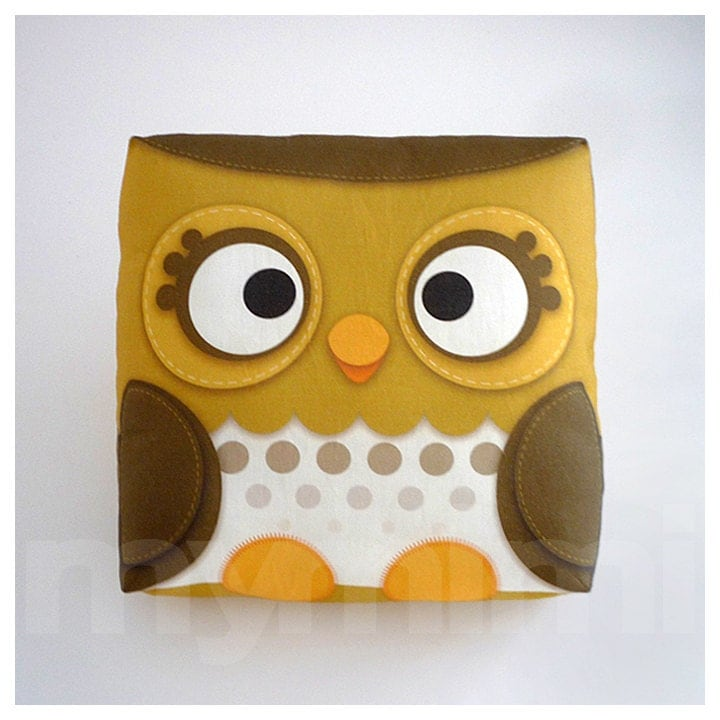 Owl Throw Pillow Etsy : Decorative Pillow Owl Pillow Forest Owl Woodland Animal