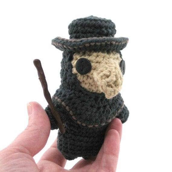 Amigurumi Plague Doctor
