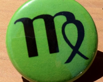 Virgo Zodiac Astrology sign- Button, Magnet, or Bottle Opener