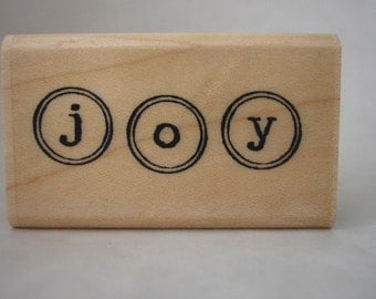 joy in circles rubber stamp