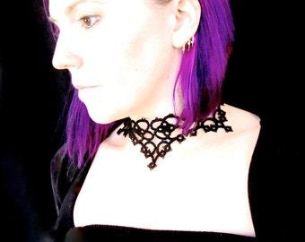 Tatted Lace Choker Necklace - La Petite Goth