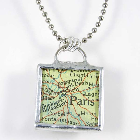 Paris Map Pendant