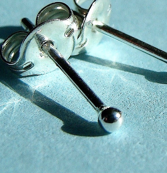 Single Tiniest Tiny Round Stud Post Sterling Silver Earring