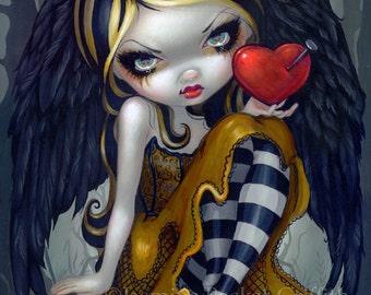 Heart of Nails dark angel goth fairy art print by Jasmine Becket-Griffith 8x10