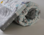 Eco-Friendly Baby Blanket in Cloud 9's Organic Seven Seas Print and White Minky