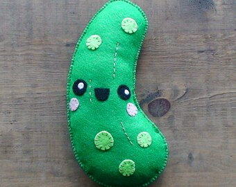 Customizable Plush Pickle made to order with glasses or mustache
