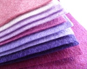 "PURPLES Premium Wool Blend Felt Pack 10x 12"" squares"