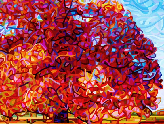 Fine Art Poster Print of an Original Abstract Acrylic Painting - The Buddha Tree