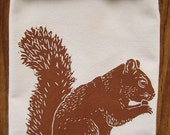 SALE LIMTED EDITION squirrel tea towel