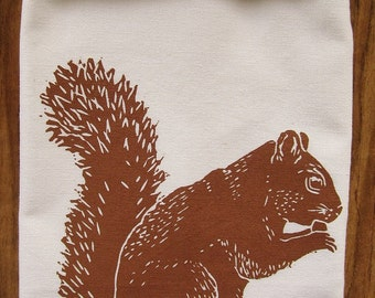 SALE LIMTED EDITION squirrel tea towel