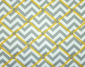 Gray White Yellow Chevron Zig Zag French Ribbon Memo Board