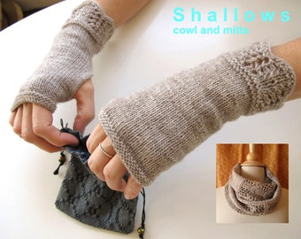 Shallows Cowl and Mitts Knitting Pattern Set