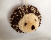 Hedgehog Pom Pom Ornament