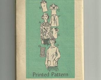 Vintage Printed Pattern Blouse Pattern 4850