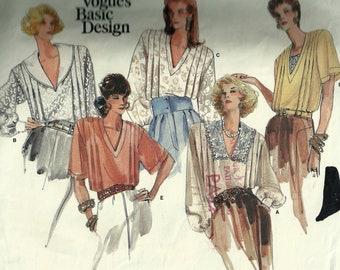 Vintage Misses' Blouses Pattern 1832