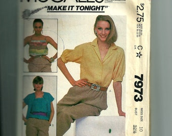 McCall's Misses'  Top and Camisole Pattern 7973