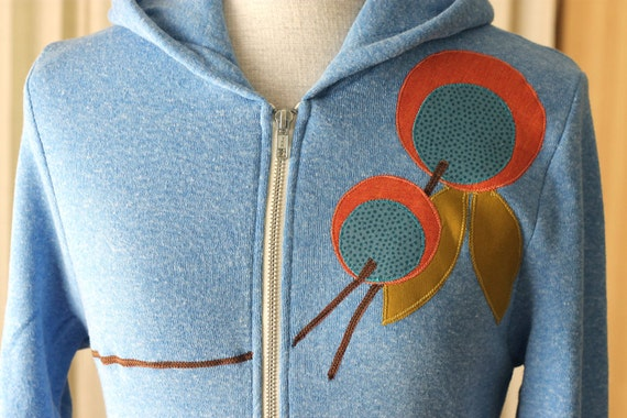 Sky Blue Orange Blossom Hoodie, Small, LAST ONE