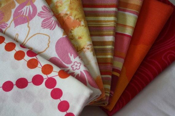 Fat Quarter Bundle-Reclaimed Bed Linens-Flame