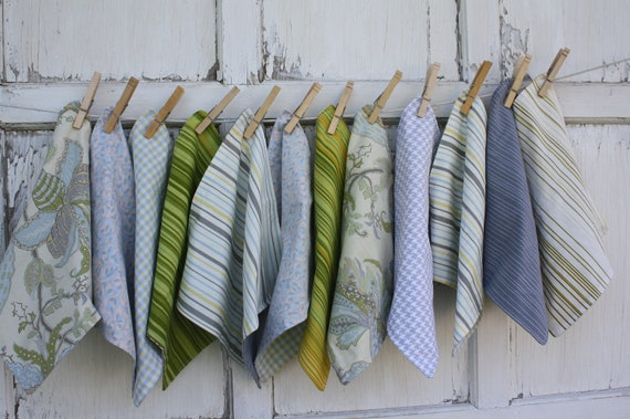Upcycled Cloth Napkins-Whimsical Garden