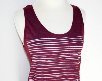 Washboard Cranberry Tank Top