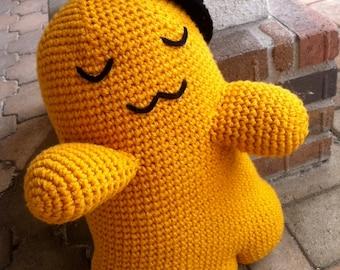 Large Cheese-kun Plushie Amigurumi Crochet Doll