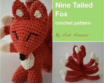 9 Tailed Fox crochet PDF pattern Kitsune Gumiho