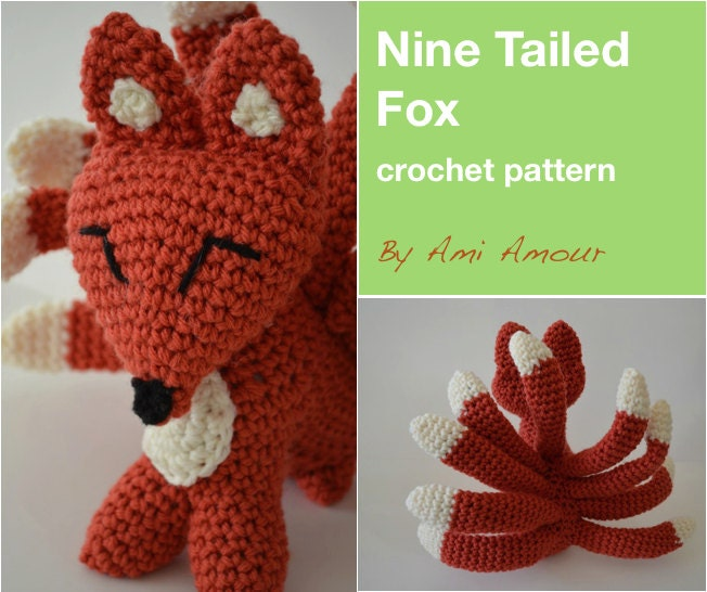 9 Tailed Fox crochet PDF pattern Kitsune Gumiho from ...