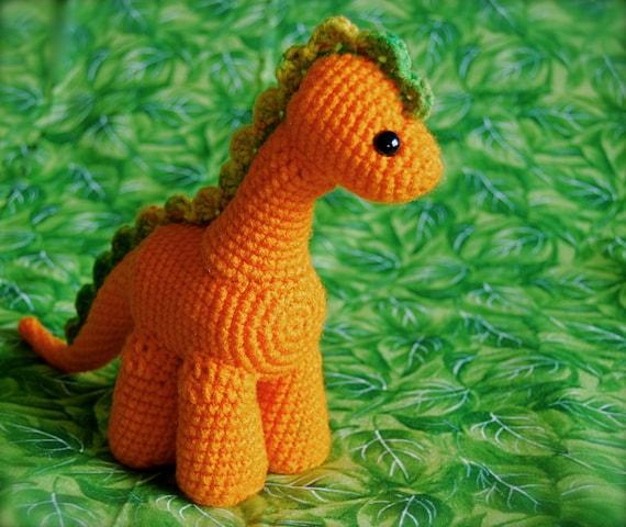 Gumdrop Dinosaur - Orange