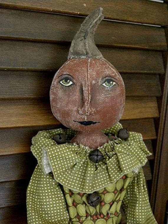 Primitive Doll Folk Art Doll Harvest Autumn Keeper of the Harvest Doll Pattern by Mustard Seed Originals
