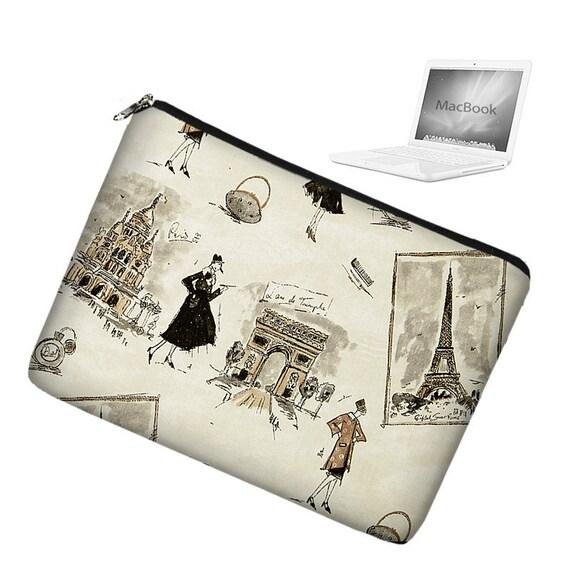 15 inch Laptop Sleeve MacBook Pro 15 inch Laptop Bag MacBook Case - Tres Chic Black - In Stock