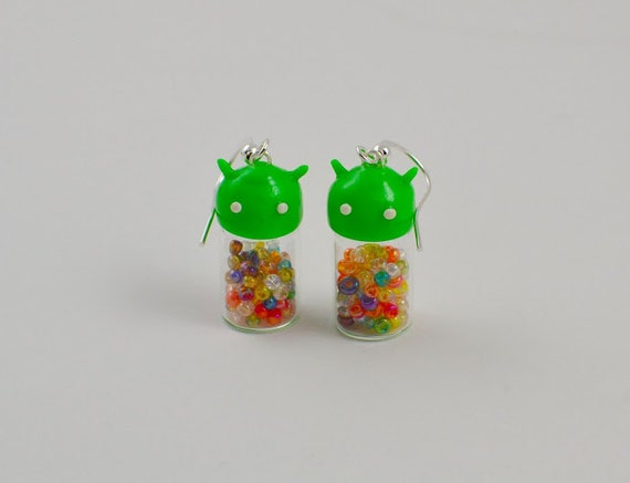 Android Jelly Bean Dangle Earrings