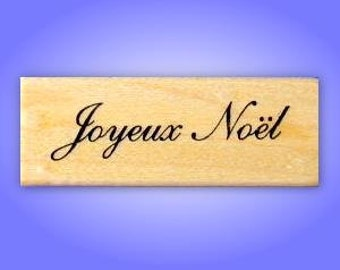 JOYEUX NOEL French Merry Christmas Mounted rubber stamp No.11