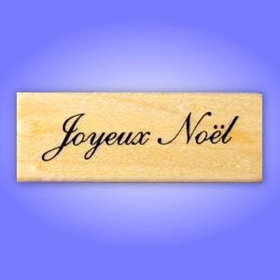 JOYEUX NOEL French Merry Christmas Mounted rubber stamp, holiday greeting, Sweet Grass Stamps No.11