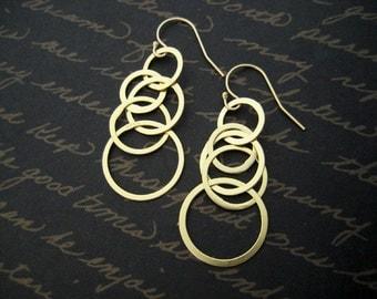 stacked hoop gold filled and vermeil hoop earrings