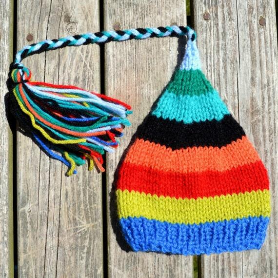 SALE RTS RAiNBoW Newborn Knit Baby HaT BaBY PHoTO PRoP Boy Girl Winter BeANiE Stripe TaSSeL FCN Stocking Hat CoMiNG HoME Unisex Baby Hat
