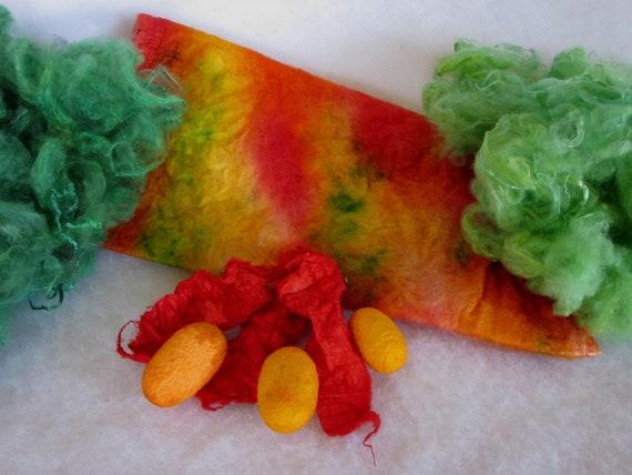 Silk Fiber Art Kit - Lot B