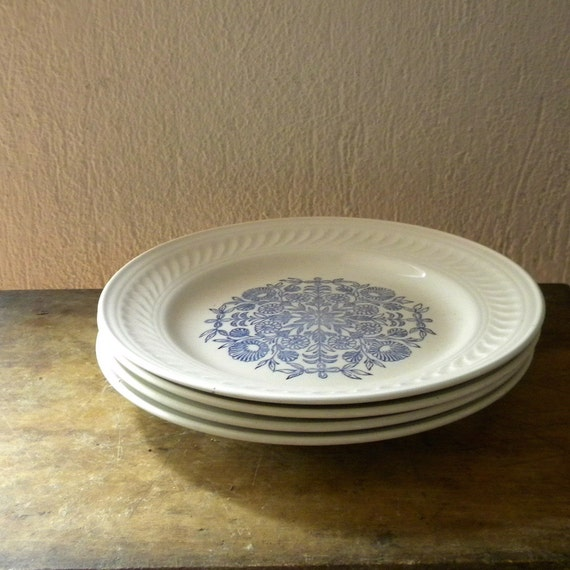 Shabby chic plates vintage faience French country decor