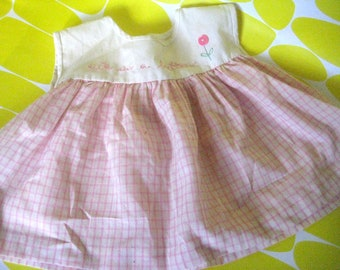Cute as a Button vintage pink child's dress