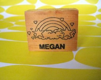 Totally Rad 1980s Megan Rainbow Stamp