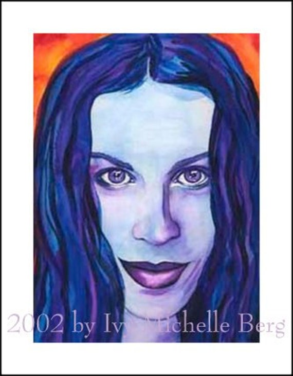 Alanis Morissette, Limited Edition Print of Watercolor Painting