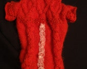 dog clothes - pet clothes MADE TO MEASURE -  dog pet beaded  sweater  alpaca wool - other colors are possible
