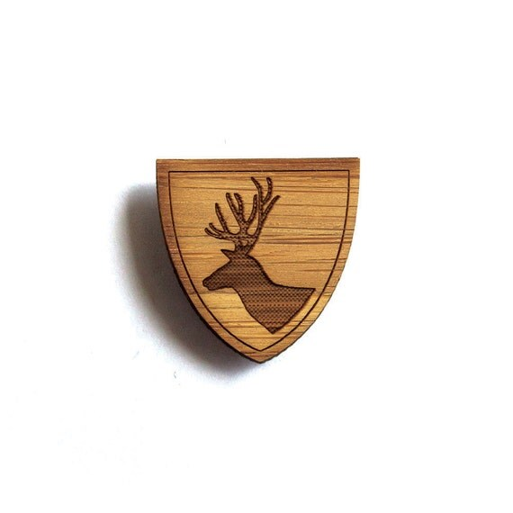 Deer Pin. Stag Pin. Wood Tie Pin. Wood Lapel Pin. Tie Pin. Lapel Pin. Mens Lapel Pin. Boutonniere. For Him. Gifts For Dad. Groomsmen Gift.