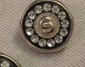 Decorative Rhinestone Buttons 10 Count