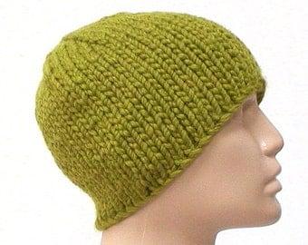 Citrus kiwi green beanie hat, skull cap, winter hat, knit toque, green hat, ski snowboard, skateboard, hiking runner biker, mens womens hat