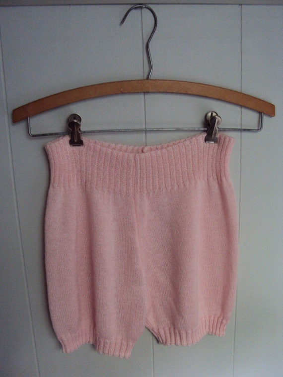 Vintage 80s Pink Sweater Hot pants Bloomer Shorts
