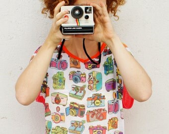 Printed analog camera t-shirt