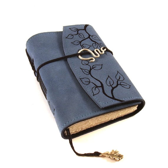 Leather journal, Twigs, Notebook, Diary